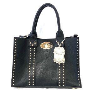 25f92f2c3 Alyssa Black Handbag Purse Bags
